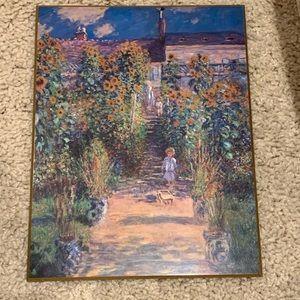 "MONET's ""The Artist's Garden at Vetheuil"" plaque"